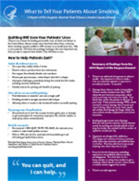 cdc fact sheet fast facts smoking tobacco use cdc 2010 surgeon general s report clinician sheet