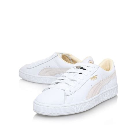 classic sneaker lyst basket classic sneaker in white for