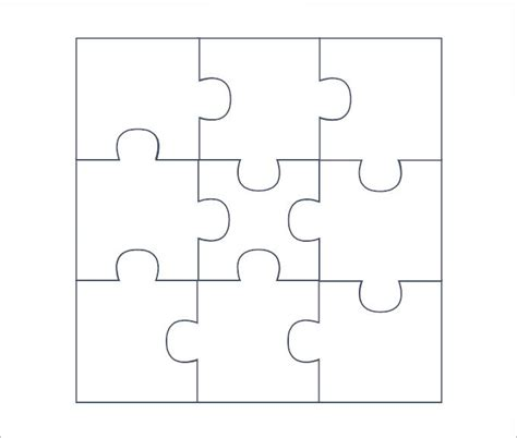 puzzle templates search results for blank puzzle pieces to print