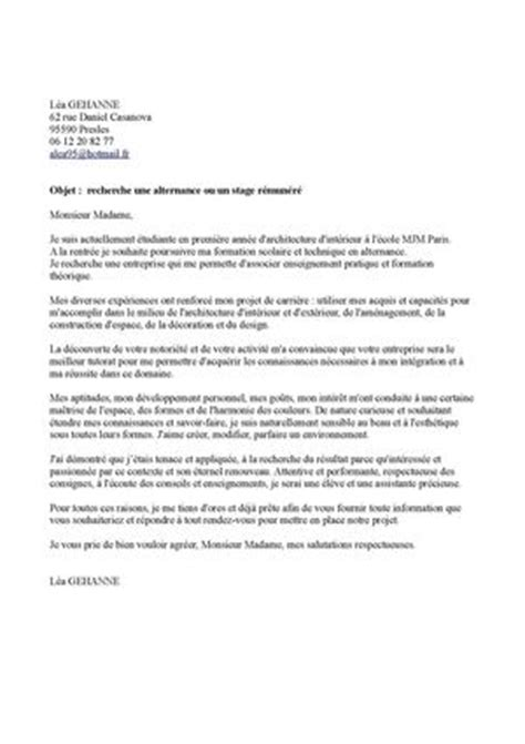 Lettre De Motivation Ecole Superieure D Architecture Calam 233 O Lettre De Motivation L 233 A F 2015