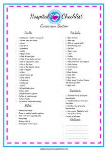 hospital checklist for c section delivery 1000 ideas about hospital bag checklist on pinterest