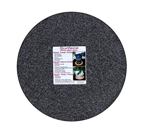 floor protectors for plants cwp ma 1400 synthetic fabric plant mat 14 inch charcoal