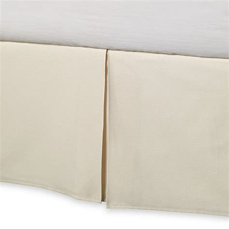 bed skirts bed bath and beyond barbara barry 174 perfect pique bed skirt bed bath beyond