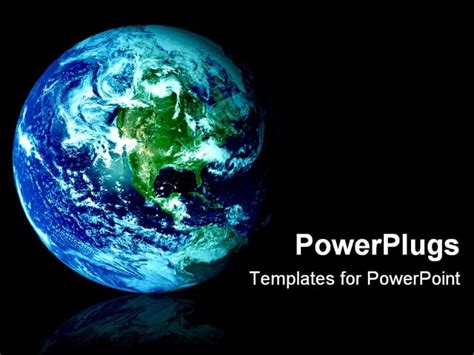 Earth Powerpoint Template powerpoint template space view of blue and green world as