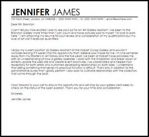 Gallery Assistant Cover Letter by Gallery Assistant Cover Letter Sle Livecareer