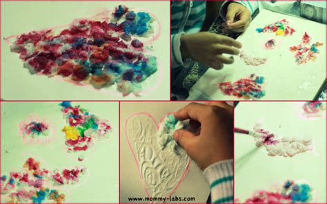 Paper Pulp Craft - valentine s textured with tissue paper pulp