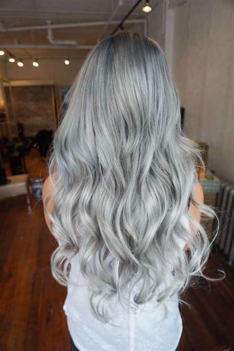silver hair color formula transformation fashion color to light granite and silver