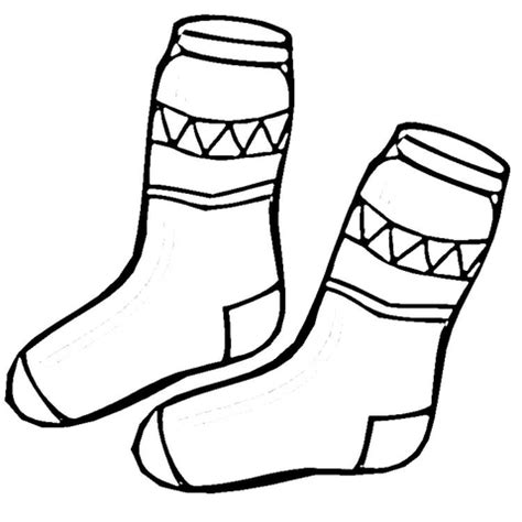 sock coloring pages kid socks coloring page supercoloring