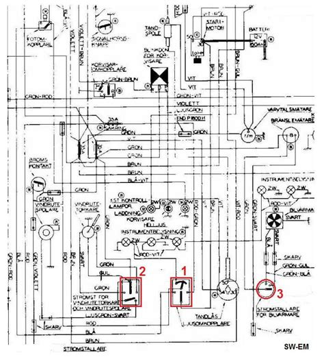 1800 light switch wiper switch fan switch drawing