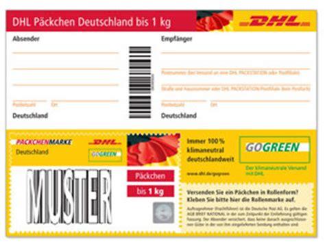 Maxibrief Aufkleber Ausdrucken by Dhl P 228 Ckchenmarken Deutschland Bis 1 Kg Shop Der