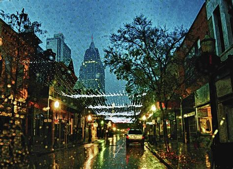 christmas lights down dauphin street digital art by