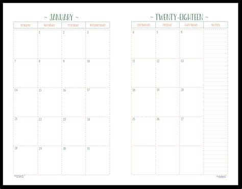 two page calendar template two page per month 2018 dated calendars are ready
