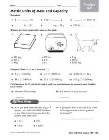 metric units of mass and capacity practice 6 5 lesson