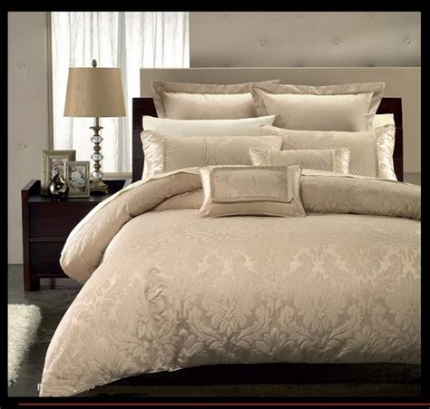 Beige Comforters 9pc Beige Contemporary Jacquard Design Comforter Set Full