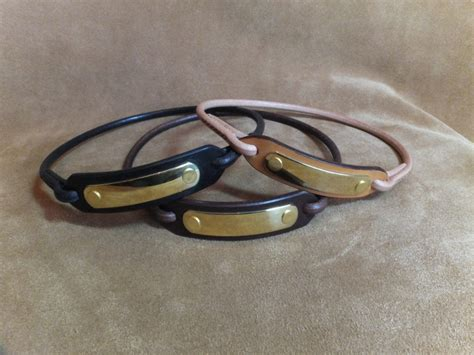 leather collars with name plate leather id collar with name plate hide and collars