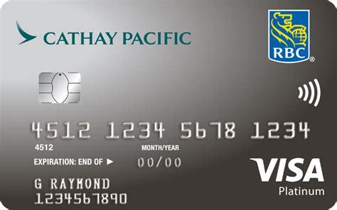 westjet royal bank mastercard cathay pacific visa platinum rbc royal bank