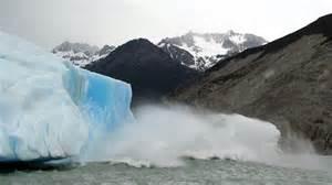 Upsala glacier melting near the upsala glacier