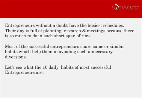 10 Daily Habits Of Most Successful Entrepreneurs Audacious Stories Quotes Motivation 10 Daily Habits Of Most Successful Entrepreneurs