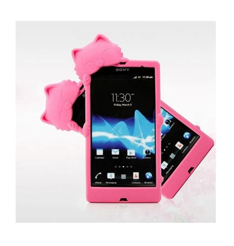 Silicon Casing Softcase 3d Sony Xperia C C3 1 cat soft rubber silicone 3d cover for sony xperia z l36h protective ebay