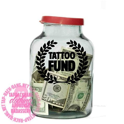 tattoo fund jar fund decal diy project