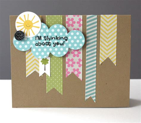 card ideas ideas for washi tape cards by alice