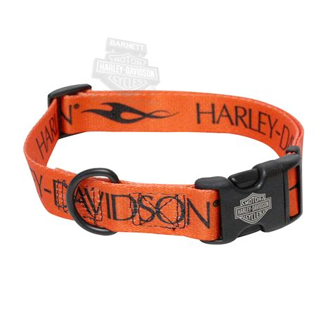 harley davidson collar h6921 h orn26 harley davidson 174 pet collar 1 quot orange black block barnett harley