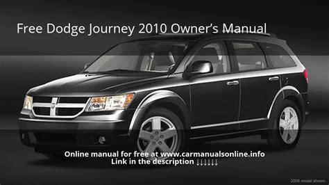 vehicle repair manual 2010 dodge journey free book repair manuals 2010 dodge journey owners manual youtube