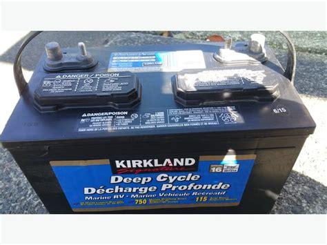 boat battery mca kirkland 207210 deep cycle marine rv battery 750 mca 115ah
