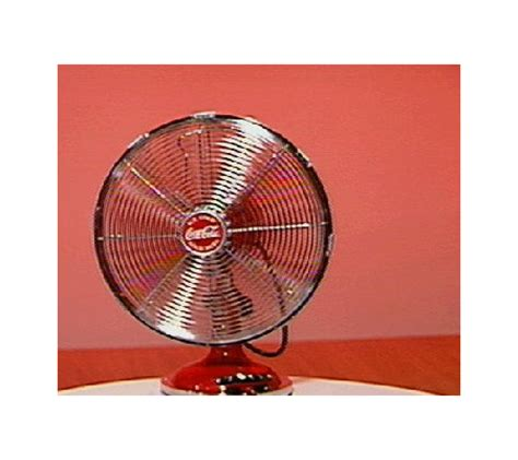 retro style desk fan coca cola 12 quot retro style oscillating desk fan qvc com