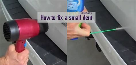 Hair Dryer Fix Dent fixing a small dent in your car paintless dent using only a hair dryer and a duster
