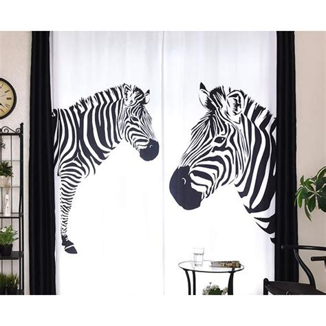 Tie Rod Hijat Zebra Left Right S88 black and white zebra print funky cool custom curtains