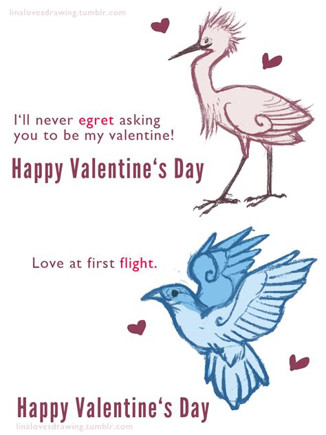 valentines day bird birds puns sketches bad puns s day