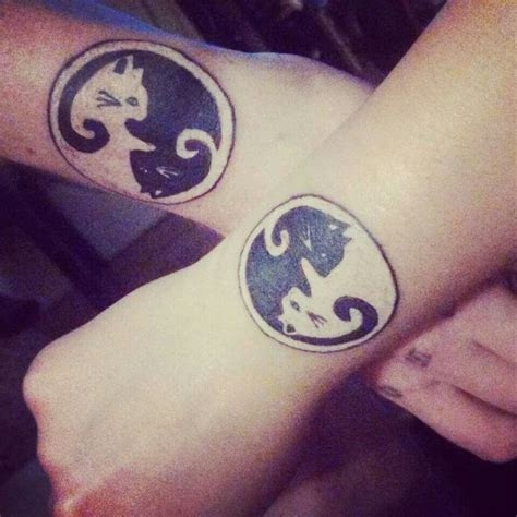matching cat tattoos matching cat tattoos designs ideas and meaning tattoos