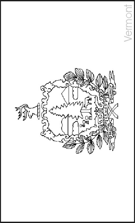 vermont state flag coloring pages usa for kids