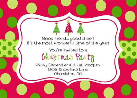 Christmas Party Invitation Template Theruntime Com Celebration Templates