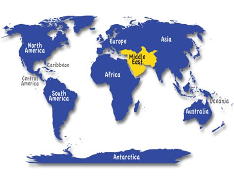 middle east map continent okay this is a one name the 7 continents and then