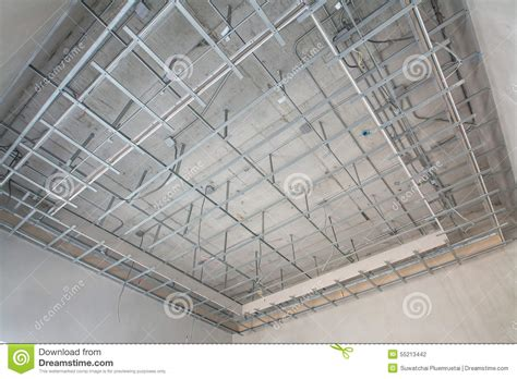 Suspended Acoustical Ceiling Suspended Ceiling Structure Stock Photo Image 55213442
