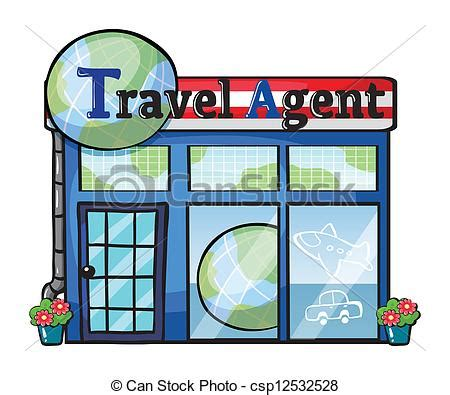 Desk Plans by Vector Illustration Of A Travel Agent Office