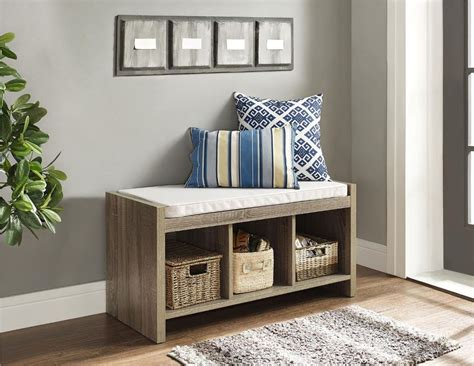 storage bench for foyer entryway storage benches bed bath and beyond
