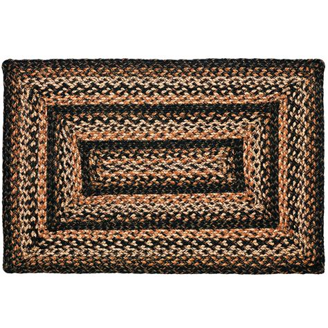 Ihf Braided Rugs by Braided Rug Black Forest Jute Country Primitive Ihf Ebay