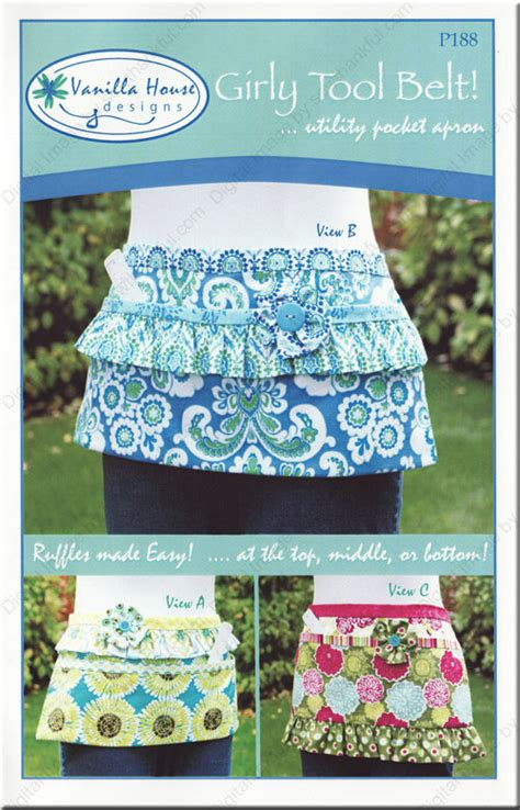 sewing pattern utility belt girly tool belt utility pocket apron sewing pattern from