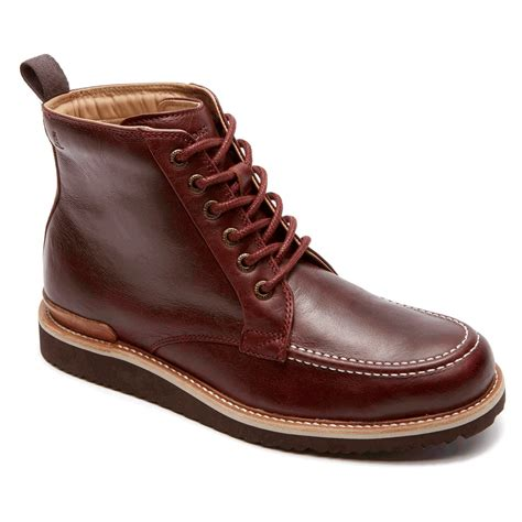 mens moc toe boot eastern empire moc toe boot s boots rockport 174