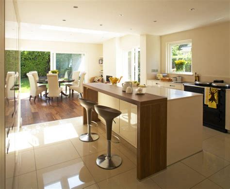 kitchen layout with breakfast bar 30 elegant contemporary breakfast bar design ideas
