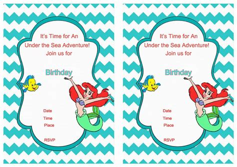 printable mermaid invitations mermaid birthday invitations free printable best ideas