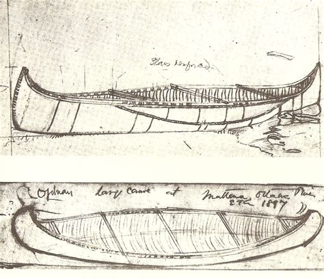 canoes drawing traditional birch bark canoe builders in canada the