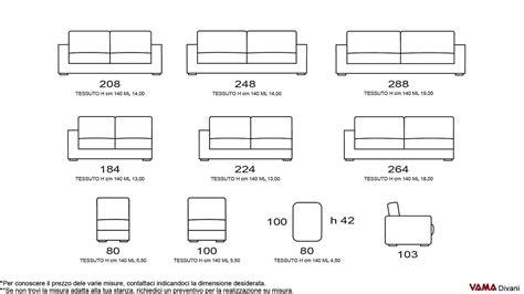misure standard divano divano moderno di design in tessuto grigio anche su misura
