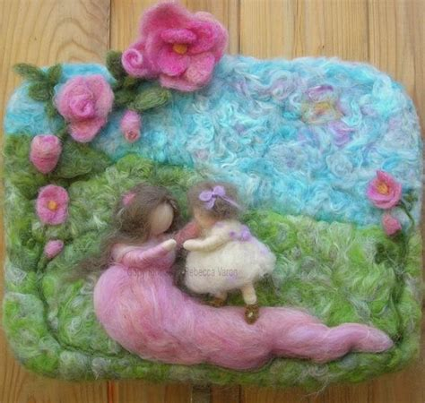 art  steps needle felted wall hanging sculptural