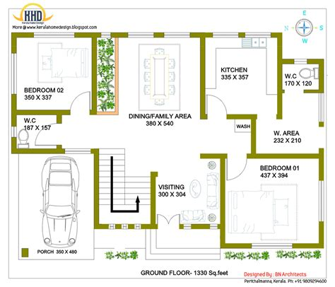 kerala home design ground floor plan 2 storey house design with 3d floor plan 2492 sq feet