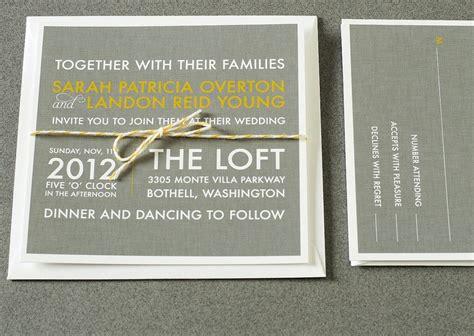 grey and yellow wedding invitations etsy wedding invitations for modern weddings etsy wedding finds gray yellow ivory
