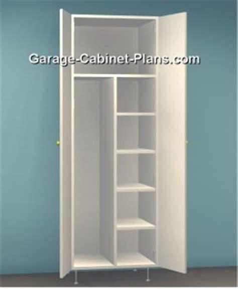 Utility Cabinet Plans   24 inch Broom Closet   Garage
